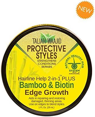 Taliah Waajid Protective Styles Hairline Help 2-in-1 Plus Bamboo & Biotin Edge Growth, 1 Ounce