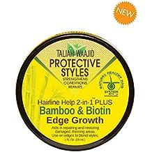 Taliah Waajid Protective Styles Hairline Help 2-in-1 Plus Bamboo & Biotin Edge Growth, 1 Ounce