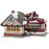 Department 56 Originial Snow Village Harley Road House, Cafe Lit House, 6-1/2-Inch