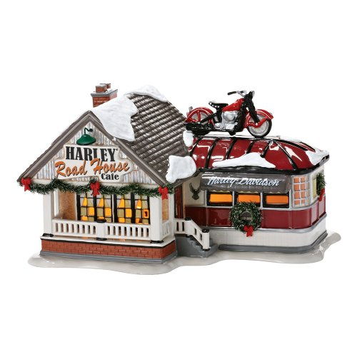 Department 56 Snow Village Harley Roadhouse Cafe Lit House, 60.5""