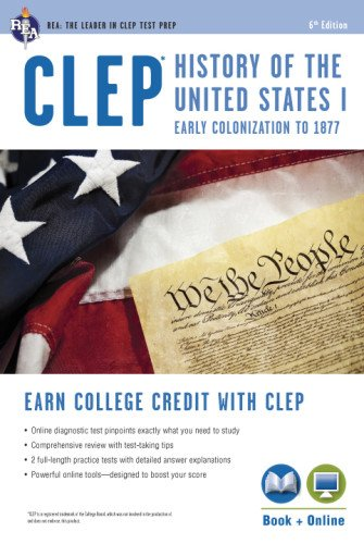 CLEP® History of the U.S. I Book + Online (CLEP Test Preparation) (Clep History Of The United States compare prices)