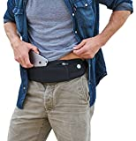 Mind and Body Experts The Belt of Orion - Adjustable, Water Resistant Running/Travel Belt, Waist/Fanny Pack - Carry Phone, Passport, Money & Everyday Essentials (Classic Black, Classic (9'x3.5'))