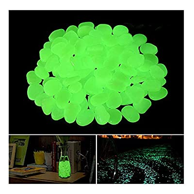 OBNZ Glow in The Dark Pebbles, Glow Pebbles Stone Rocks for Garden, Walkways, Driveway, Path, Fish Tank