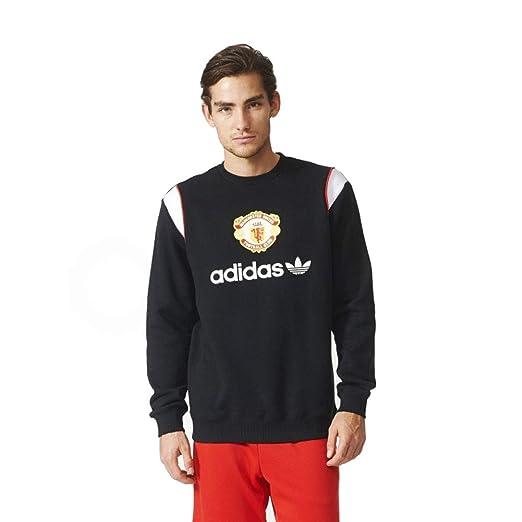 a2db177816fb3 Amazon.com: adidas Men's Manchester United FC Crew Sweatshirt -Black ...