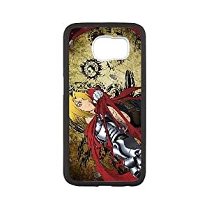 Fullmetal Alchemist Edward Elric Propaganda poster pattern design Cartoon Collection Phone Case Cover Gift Hard shell (For samsung_galaxy_s6, White Phone Case)