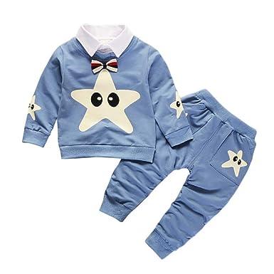 e3faed7ae17bf Accessoi Vêtement Pour Bébé Garçon. Gyratedream Ensemble de Vêtements pour  Bébé Garçon Fille Survêtements Motif Star T-Shirt Sweat Tops