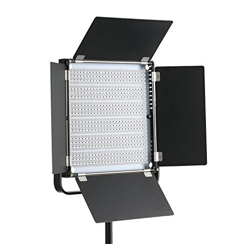 Dazzne Wireless LED Video Light, Metal Bi-color 660A Continuous Lighting Panel with Power Adapter for Studio Lighting,YouTube,Product Photography,Video Shooting,3200-5600K, 4800LM 40W (660A) by Dazzne