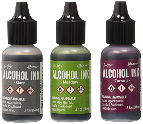 Ranger Adirondack Alcohol Ink 1/2-Ounce 3/Pkg, Cottage Path, - Scrapbook Adirondack