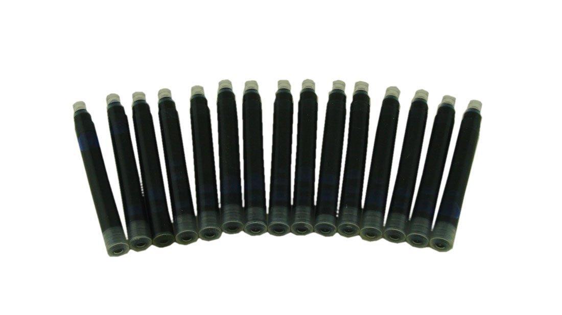 International Standard Size 30 PCS Jinhao Fountain Pen Ink Cartridges 6 Color Set( Black, Blue, Apple Green, Purple, Red and Orange