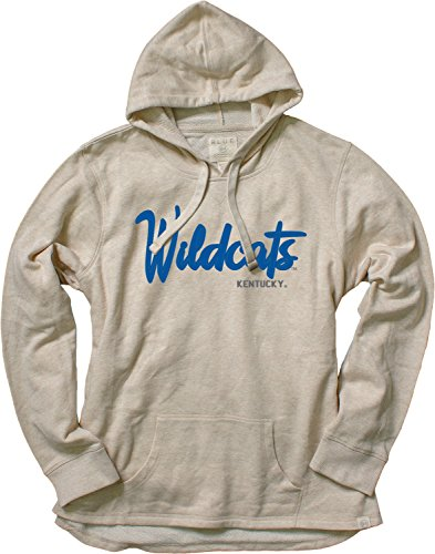 NCAA Kentucky Wildcats Women's French Terry Pullover Hoodie with Applique, Small, (Kentucky Wildcats Applique)