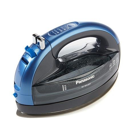 Panasonic 360º Freestyle Advanced Ceramic Cordless Iron NI-WL607 Blue