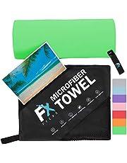 Microvezel handdoeken in de maten S, M, L en XL - sneldrogende en zachtste sporthanddoek - klein en licht, ideaal als reishanddoek en strandhanddoek - voor mannen, vrouwen en kinderen sauna sport