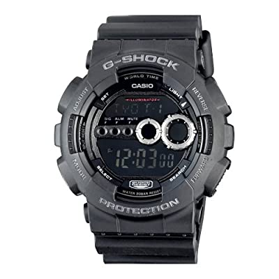 Casio GD100-1B g-shock black digital dial resin strap men watch