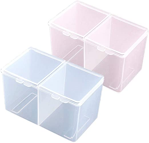 Tasquite Reutilizable Caja de Almacenamiento Maquillaje Algodón ...