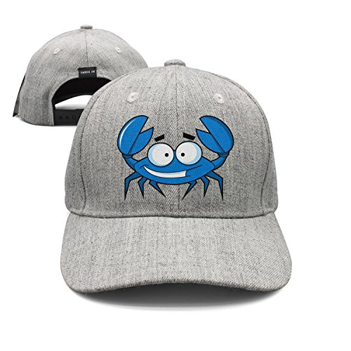 Yashe Unisex Warm Wool Woolen Baseball Cap Cute Blue Crab Clipart Durable Baseball Cap Hats Adjustable Peaked Trucker Cap ()