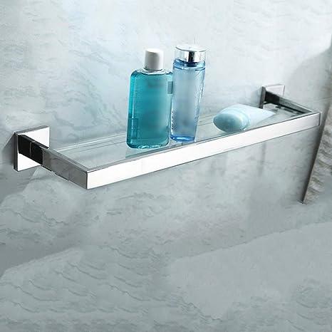 Estante Baño de Vidrio Estante del Cuarto de baño, Soporte ...
