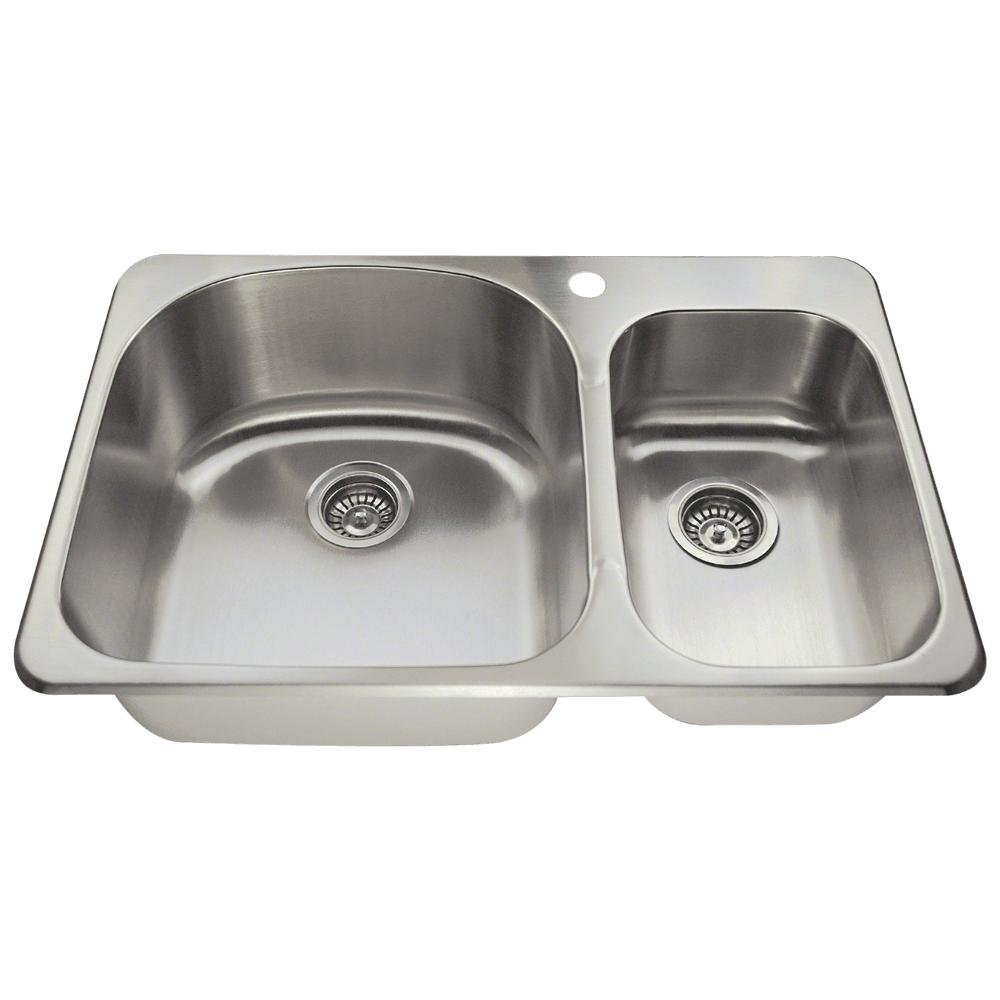 T3121L Topmount Offset Stainless Steel Kitchen Sink by MR Direct