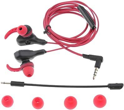 Baoblaze Auriculares para Juegos con Micrófono y Control de ...