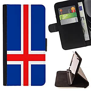 - Flag - - Premium PU Leather Wallet Case with Card Slots, Cash Compartment and Detachable Wrist Strap FOR Sony Xperia M2 s50h Aqua King case