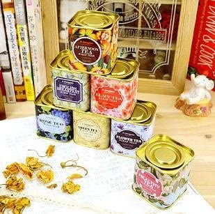 Generic Inglés Desayuno: dulce oro tono británico estilo Zakka estilo Candy caja de lata caja de almacenamiento para té recipiente: Amazon.es: Hogar