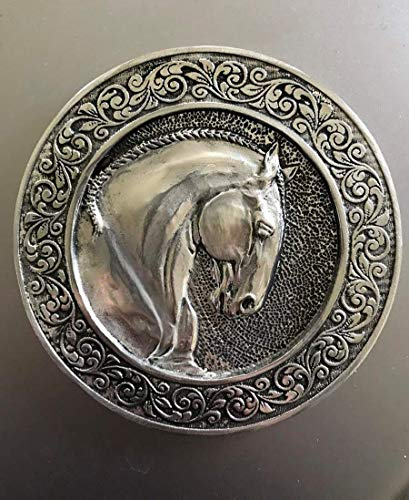 (Horse Lady Gifts Lusitano Coaster, collectable in mirror polished silvery pewter)
