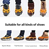 Samyki Ice Cleats Crampons, Anti Slip 19 Teeth