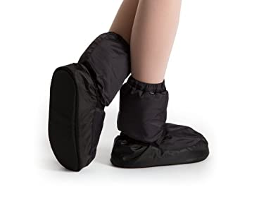 Bloch Dance Girls' Warm up Bootie Dance Shoe, Black, L Medium US Little