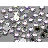 10mm Sew On Rhinestones Crystal AB H702 - 70 Pieces