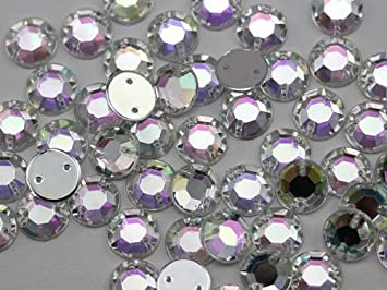 Stick on DIAMANTE Crystal Rhinestones 100 X 10mm mixed SQUARE Sew On Stitch On
