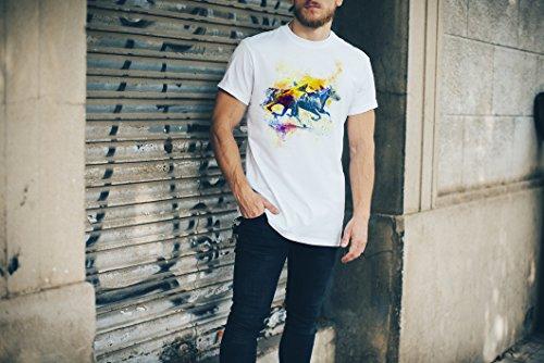 Pferderennen Herren T-Shirt Sport Motiv aus Paul Sinus Aquarell