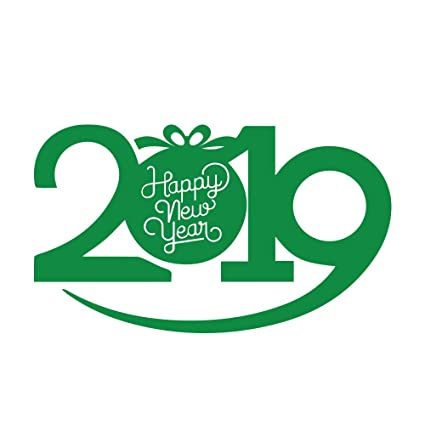 artsyprints happy new year 2019 letter christmas removable home decor vinyl decal sticker wall window floor