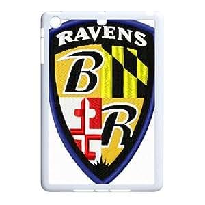 3D Tyquin Baltimore Ravens IPad Mini 2D Cases Baltimore Ravens Embroidery Design, Baltimore Ravens, {White}
