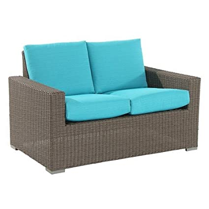 Bon Heatherstone Wicker Patio Loveseat Turquoise   Threshold™