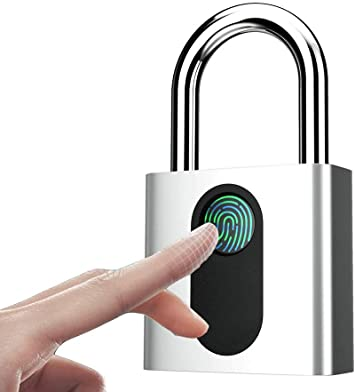 mochila maleta Candado de huellas dactilares inteligente con cerradura de huellas dactilares equipaje candado de seguridad port/átil recargable USB para casillero
