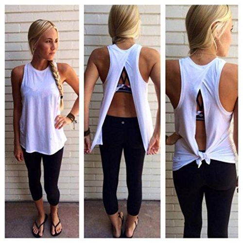 Thermal Henley Tank (Iusun Women's Summer Sleeveless Tank Tops Backness Loose Blouse Shirt (White, XL))