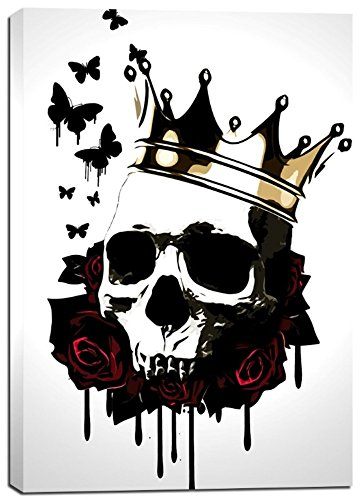 Cortesi Home ''El Rey De La Muerte'' by Nicklas Gustafsson, Giclee Canvas Wall Art, 28''x40'' by Cortesi Home