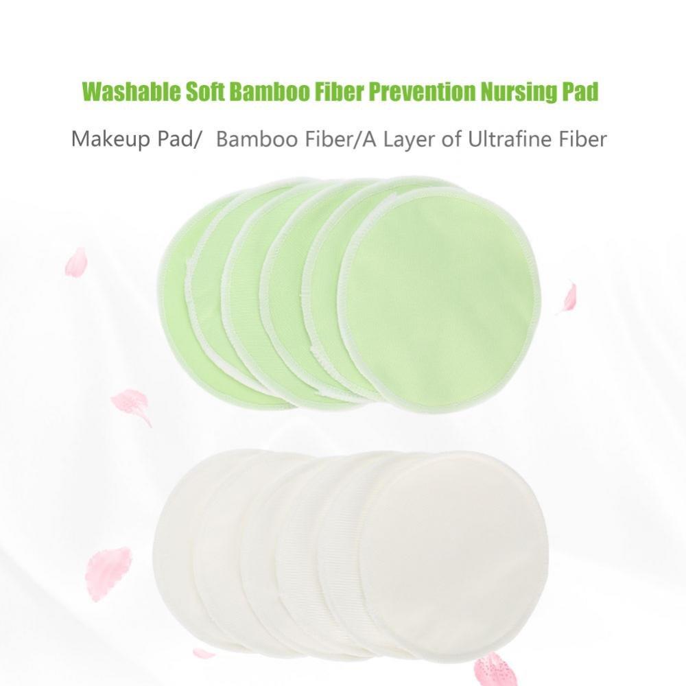 Pastiglie di bamb/ù organico + borsa da viaggio Allattamento naturale e riutilizzabile ultra morbida e super assorbente 12 pezzi//set 01