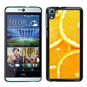EJOY---Cubierta de la caja de protección la piel dura para el ** HTC Desire D826 ** --Modelo anaranjado de la rebanada