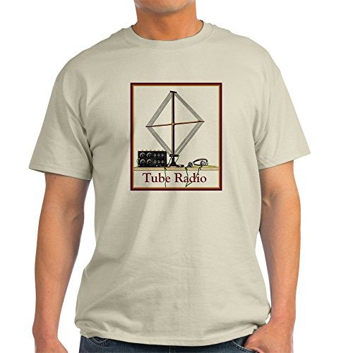 Xtal Set (CafePress Tube Radio Grey T-Shirt - 100% Cotton T-Shirt)
