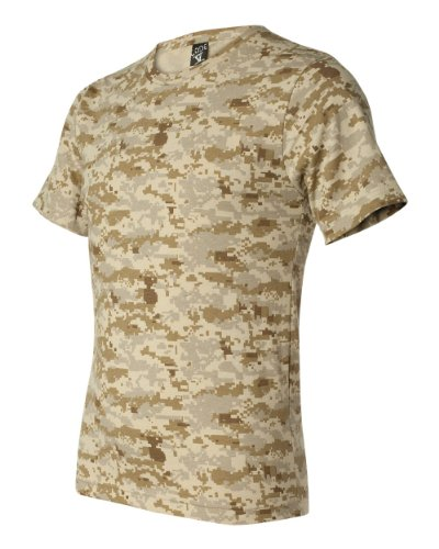 Woodland T-shirt Cotton Camo Army (Code Five 3906 Adult Camo Short Sleeve T-Shirt Army Woodland Digital Urban Camouflage Tee (Medium, Sand Digital))