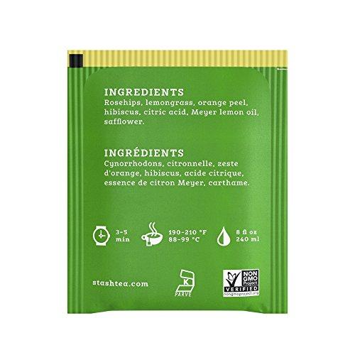 Stash Tea Meyer Lemon Herbal Tea 20 Count Tea Bags in Foil (Pack of 6) (Packaging May Vary) Individual Herbal Tea Bags for Use in Teapots Mugs or Cups, Brew Hot Tea or Iced Tea by Stash Tea (Image #3)