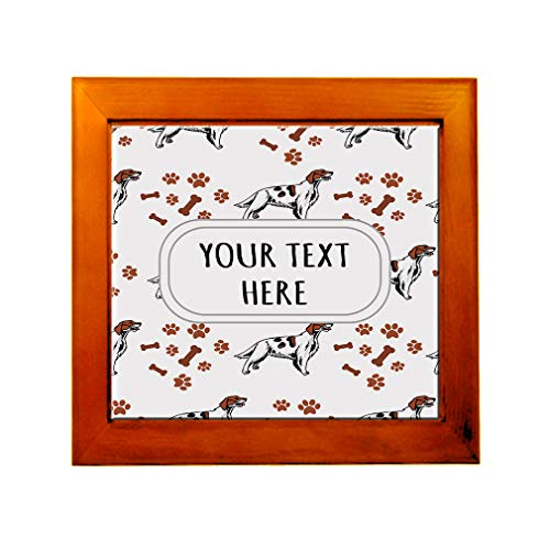 Ceramic Tile in Wood Frame Custom Irish Red and White Setter Dog Pattern A Adults (Irish Red And White Setter For Sale)
