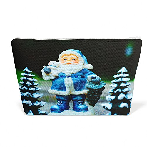 Pencil Santa Figurines (Westlake Art - Christmas Lawn - Pen Pencil Marker Accessory Case - Picture Photography Office School Pouch Holder Storage Organizer - 13x9 inch (4C12B))