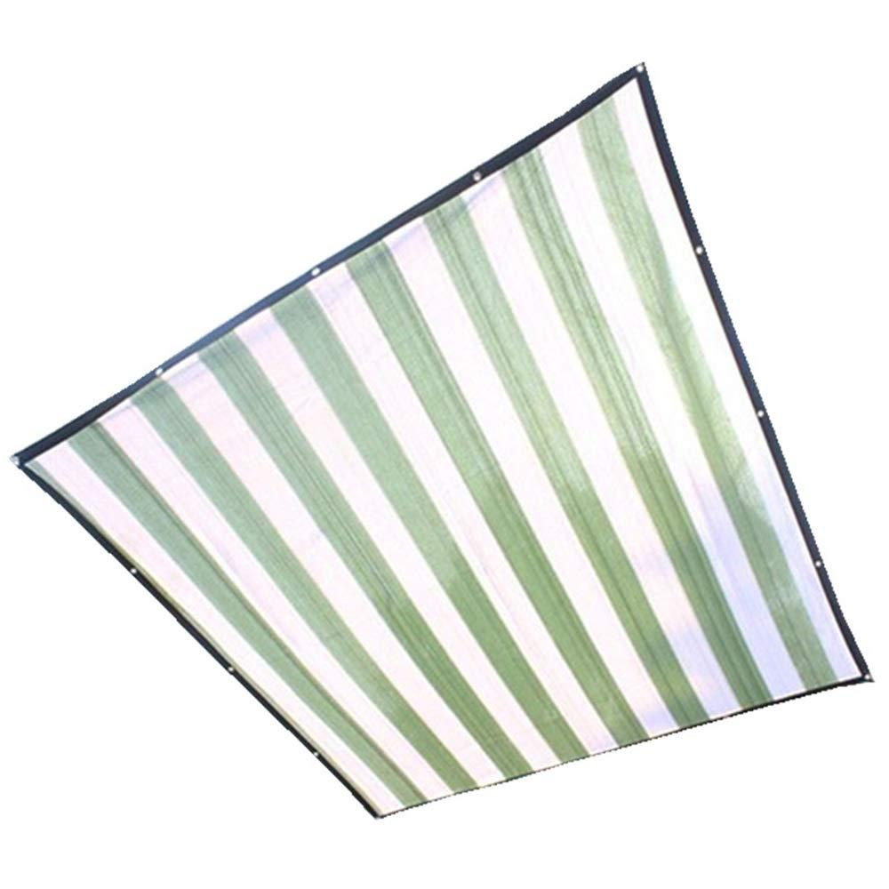 FEIFEI 95%日よけの帆布、屋外の日よけの網、日曜日の網の網、植物カバー、ペット陰カバー、屋外のための紫外線ブロックの生地 (色 : Green+white stripes, サイズ さいず : 5×6m) 5×6m Green+white stripes B07PS41JF9