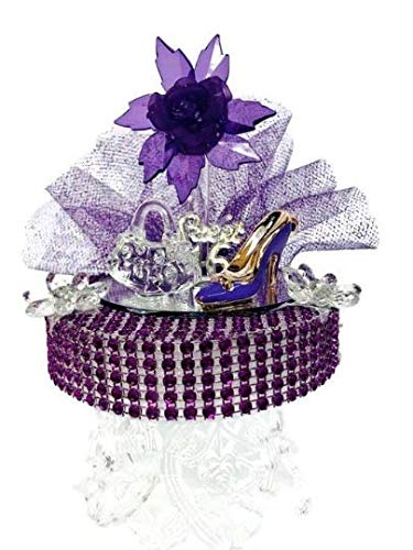 Amazon Com Sweet 16 Birthday Cake Topper Decoration Purple