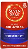 omega 3 cod liver seven seas - Seven Seas Pure Cod Liver Oil High Strength With Omega 3 Plus Vitamins D & E 60 Capsules by SEVEN SEAS HEALTH CARE