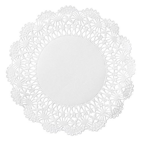 200 ct. 5″ Cambridge Paper Lace Doilies White Round Doily