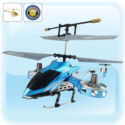 Blue Avatar Z008 Parkflyers Infrared Co-axial RTF Micro Mini Remote Control RC R/C Helicopter with Gyro 4 Channel by -