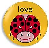 Jane Jenni 9-Inch Melamine Plate, Love Bug