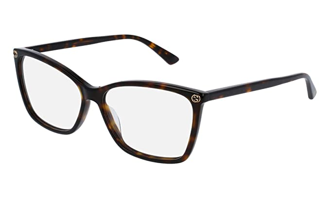 9ca50cfee3 Amazon.com  Gucci GG0025O Optical Frame 002 Avana Avana 56 mm  Clothing